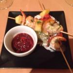 King prawn and rice starter