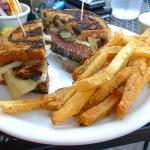 Patty Melt cooked as requested Med Rare yummers!
