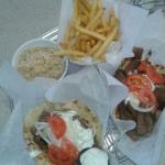 Good gyro, hot fries