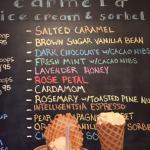 Amazing rose petal and vanilla bean ice cream!