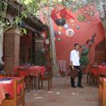 Patio dining room at Las Quince Letras