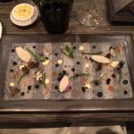 Espadon - avruga - citron caviar - salicorne - jasmin