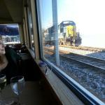 Great views of trains, tracks, Ohio river and birds.