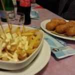 Patatine con fonduta - crocchè