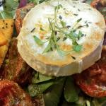 Goat's cheese salad with polenta crisps - delicious!