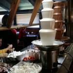 White chocolate and regular chocolate fondue