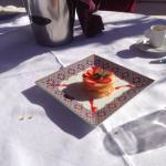 Dessert on the roof terrace
