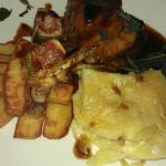 duck and dauphinoise potatoes