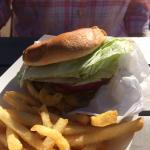 Marzetti Burger, regular fries (mac&cheese) damn good!