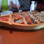 Really good sushi, Really neat presentation