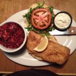 Fried Fish Sandwich with Chili Slaw