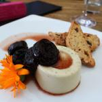 Blue Cheese Panacotta with Prunes socked in red wine