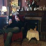 My boyfriend enjoying Libations Lounge