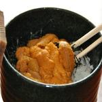 sea urchin with boul of rice