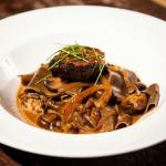 Beef Stroganoff Red Wine Braised Short Ribs, Kale, Cremini Mushrooms, Caramelized Onions, Egg No