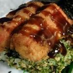 Crab stick musubi! Oishi