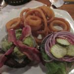 All I wanted for Christmas - a burger and onion rings! Quandary delivered!!