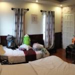 the room, one king bed and another small bed for the backpacks :)
