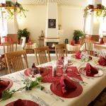 Restaurant mit offenem Kamin