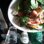 Baby Spinach and Prawn salad