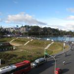 view from our room window, Dalat City & Xuan Huong Lake