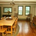 You can host your own gatherings here in the Farmhouse dining room