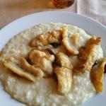 risotto con persico fritto (?)
