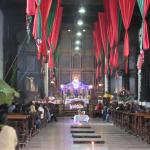 View of the mass in the church