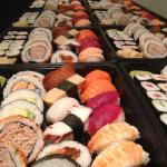 Variety sushi catering platter