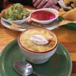 Tortilla soup and guacamole!