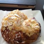 Delicious almond croissants at Tout.