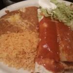 #10, burrito,  enchilada and tamale dinner