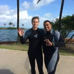 Post-dive with Manuel