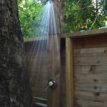 Optional outdoor shower