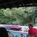 big porch, sounds of river/birds