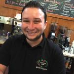Maestro Mauricio, roaster guru at the new coffee shop