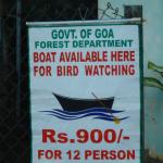 Forest department announcement about the boat ride.