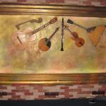musical instrument display in bar