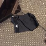 Someone's underwear on the desk chair
