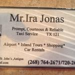 Call Ira for all your taxi needs! He even does island tours