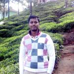 Me having morning walk along tea garden