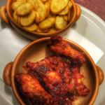 Chicken wings and potatoes
