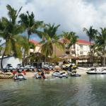 Watesport dock looking back to resort