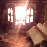 Lovely warm log fire