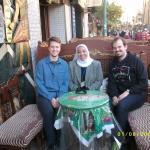 Rasha, Steve, and I near the Grand Bazaar grabbing coffee and tee