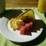 Excellent fresh fruit every morning