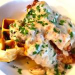 Chicken & Waffles with Spicy Sausage Gravy