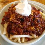 Chili Cheese Fries upgraded with bacon