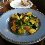 Sauteed vegetable vegan dish at Cabezon