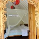 Bed room of the Garden Chalet